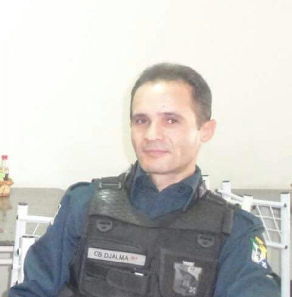 Durante o assalto, o policial de prenome Djalma, foi alvejado pelos bandidos.