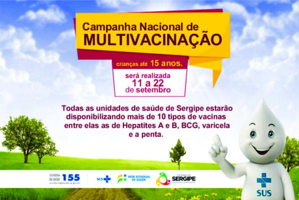 Campanha de Multivacinação para crianças e adolescentes vai até o dia 22