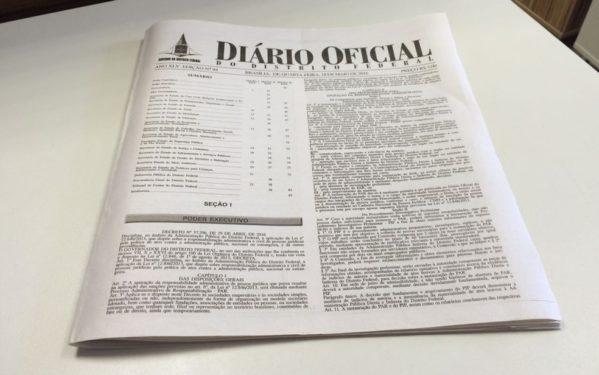 Edição impressa do Diário Oficial deixa de circular a partir de dezembro