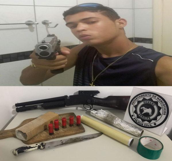 João Felipe costumava postar fotos em redes sociais exibindo armas, dinheiro e drogas