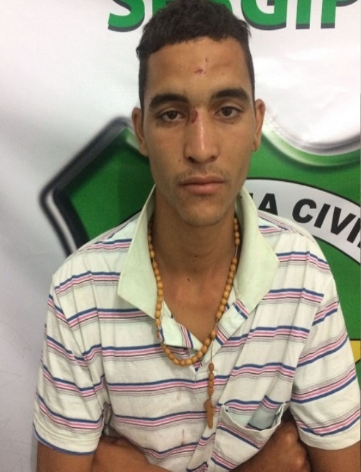 Yure Silva Santana, que estava foragido Delegacia de Salgado.