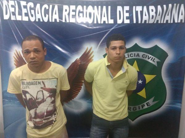 Polícia Civil prende dupla por tentativa de homicídio em Itabaiana