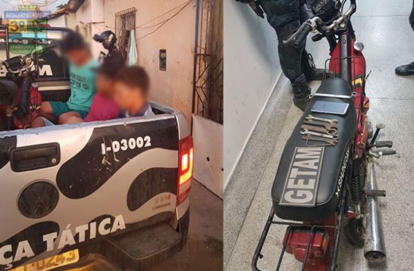Três homens são presos em desmanche na cidade de Itabaiana