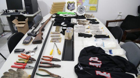A quadrilha iria agir ontem (16) em Itaporanga D'Ajuda. Com os criminosos foram apreendidos armas, explosivos e drogas