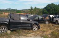 Polícia Militar localiza desmanche de carros de luxo no Povoado Umbaúba, em São Cristóvão