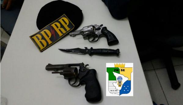 Polícia liberta vítima de sequestro, apreende 2 revólveres e recupera objetos em São Cristóvão