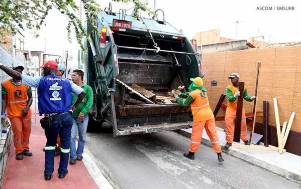 Torre suspende coleta de lixo em Aracaju por falta de pagamento