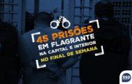 Delegacias Plantonistas registram 45 prisões em flagrante no final de semana prolongado