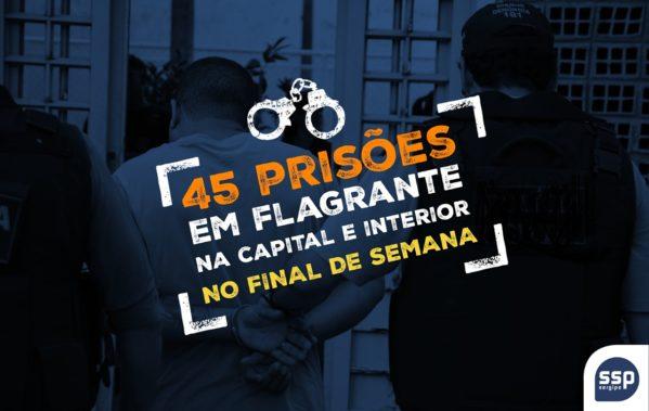 As prisões ocorreram entre a noite da sexta-feira (29) e o inicio da manhã desta terça-feira (2)