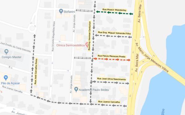 Trânsito mudará em duas ruas do Garcia, no bairro Jardins