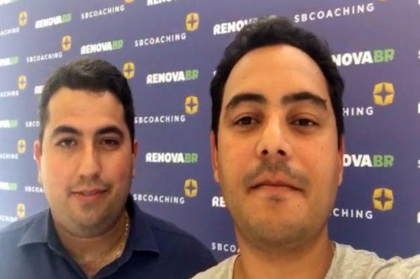 Saulo e Tito: rejeição à filiação de Bolsonaro (Foto: Assessoria do Movimento Livres)
