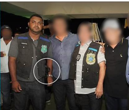 SSP afasta policial China e comprova que não é policial quem estavam com a arma