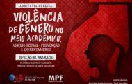 Em Sergipe, OAB e MPF promovem audiência pública sobre violência de gênero no meio acadêmico