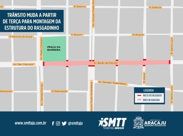 Trânsito muda a partir de terça-feira na Avenida Barão de Maruim
