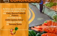 Prefeitura de Socorro antecipa feiras livres devido ao feriado