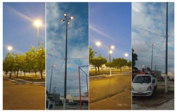 Prefeitura restabelece iluminação em praças de Socorro