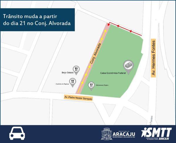 Rua do conjunto Alvorada terá sentido único a partir do dia 21