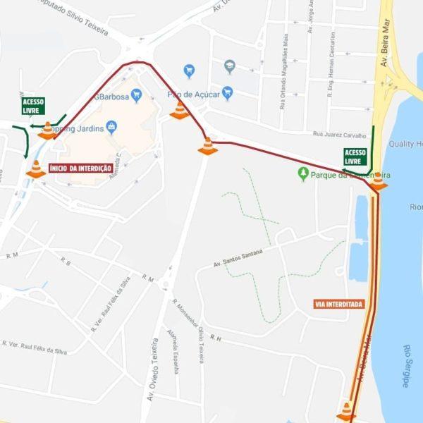 Avenida Beira Mar estará fechada das 6h às 9h do próximo domingo