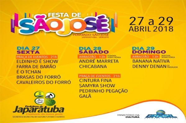 Festa de São José acontece entre os dias 27 e 29