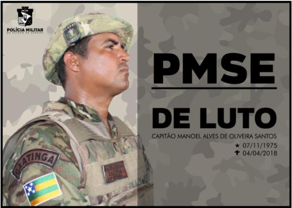 Comandante da Caatinga morto nesta quarta-feira será velado no Cfap e sepultado em Porto da Folha