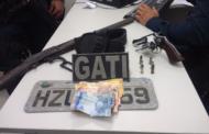 Polícia Militar prende homem por porte ilegal de arma de fogo em Itaporanga