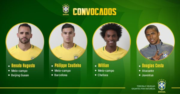 Confira os 23 convocados da seleção brasileira para a Copa da Rússia