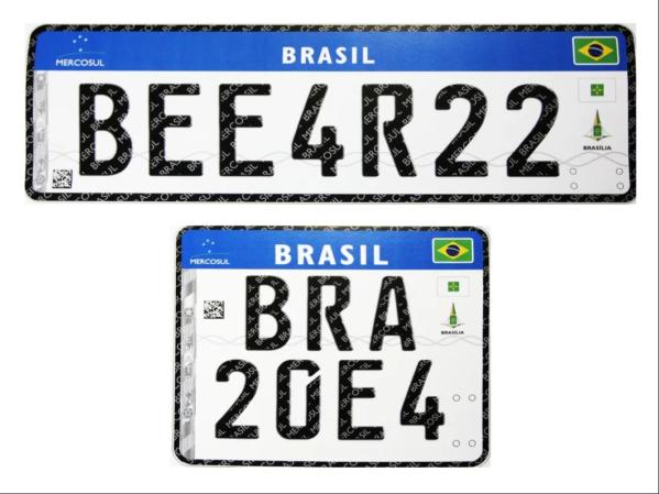 Denatran divulga lista dos fabricantes de placas de veículos conforme padrão do Mercosul