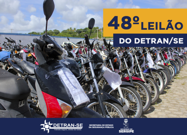 Detran/SE realiza 48º leilão de veículos nos dias 6 e 7 de junho