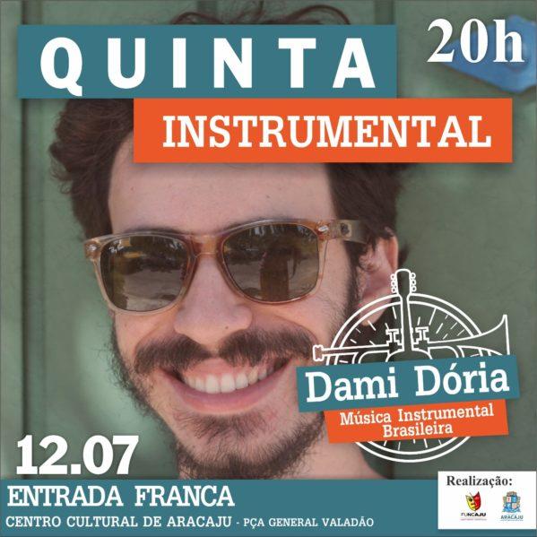 Dami Dória abre segunda temporada do Quinta Instrumental 2018