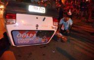 Carro de assessores do Cabo Amintas capota e assessores ficam feridos