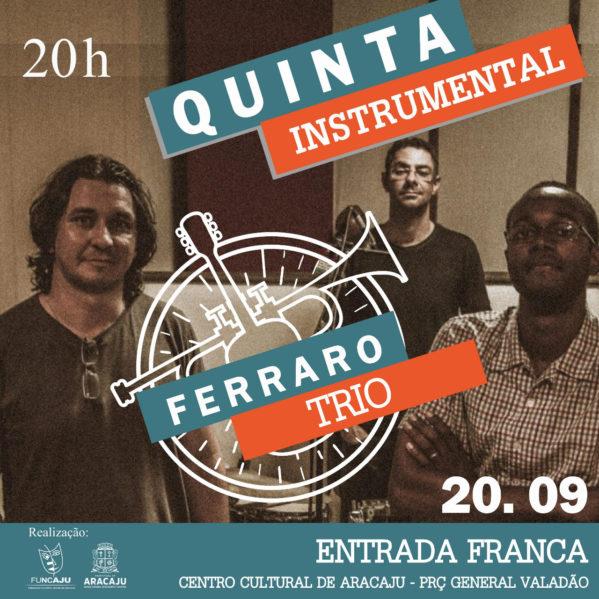 Ferraro Trio trará rock instrumental para o palco do teatro João Costa nesta quinta