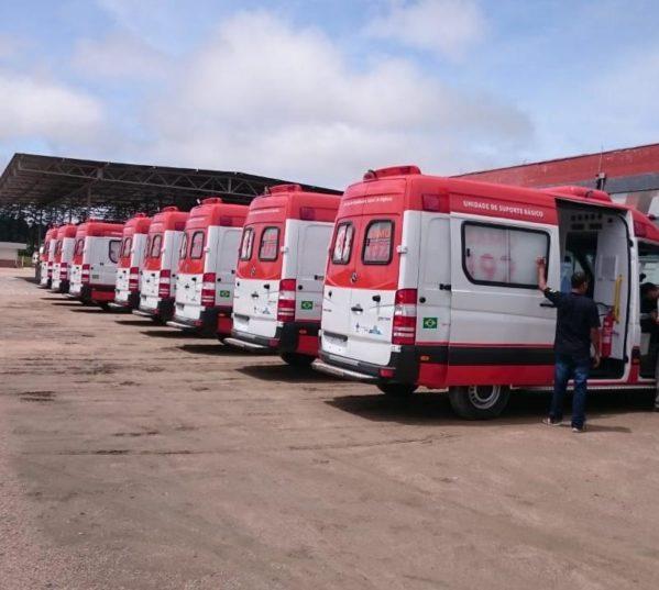 Samu recebe mais nove ambulâncias neste domingo