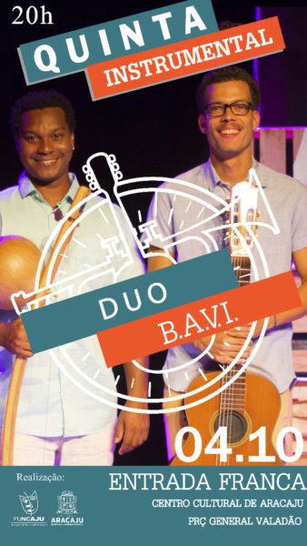 Dupla apresentará novas sonoridades com violão e berimbau no Quinta Instrumental