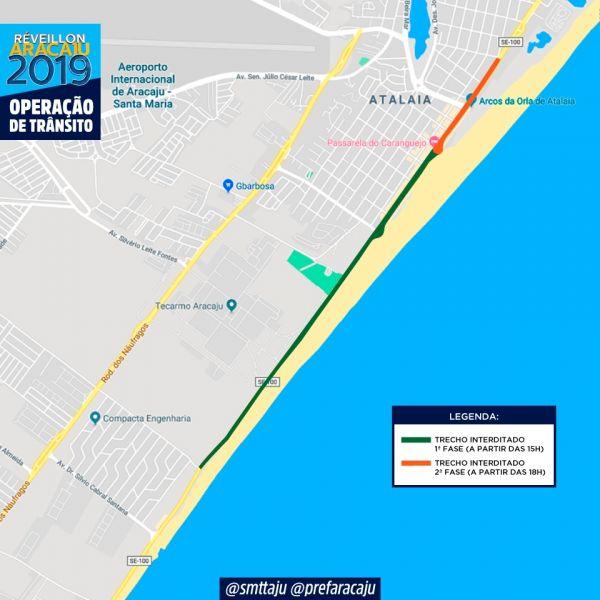 Confira o esquema de trânsito montado pela SMTT para o Réveillon 2019