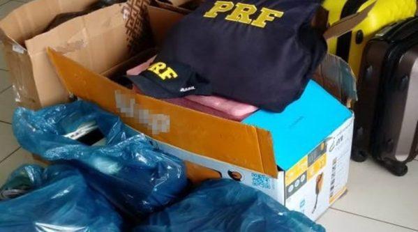 PRF detém dupla que transportava cerca de R$ 90.000 em mercadorias sem nota fiscal na BR – 101