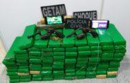 Ação integrada apreende 100 kg de maconha e prende duas pessoas no interior de Sergipe