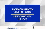 Proprietários de veículos já podem emitir Licenciamento Anual 2019