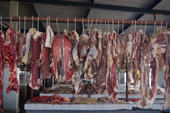 Fiscalização do MPE apreende 98 quilos de frango e 30 quilos de carne