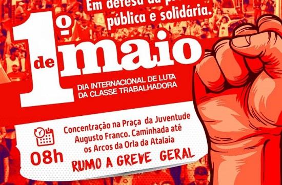Dia do Trabalhador: centrais sindicais farão ato unificado em Sergipe