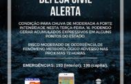 Defesa Civil Estadual alerta para ocorrências de chuvas em Sergipe