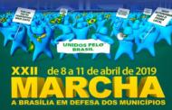 Marcha dos Prefeitos 2019 começa nesta segunda-feira