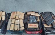 Policiais militares apreendem 187 Kg de maconha em Itabaiana