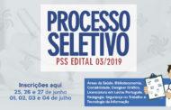 Inscrições para Processo Seletivo da Funesa começa na terça-feira, 25