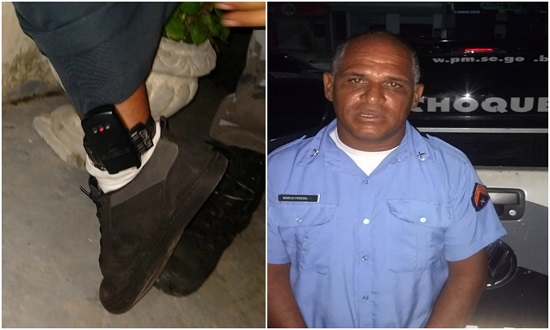 Falso PM é preso com tornozeleira eletrônica em Nossa Senhora do Socorro
