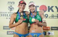 Duda/Ágatha vence americanas e leva o ouro na etapa de Tóquio do Vôlei de Praia