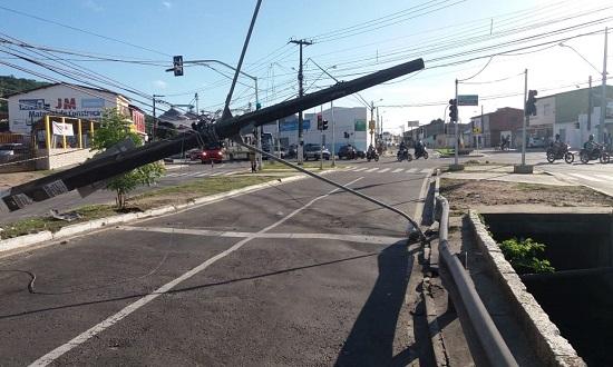 Mais de 110 postes de Energia foram derrubados esse ano em Sergipe