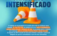 Devido a obra de recapeamento, trânsito na avenida Beira Mar ficará em meia pista nesta segunda,16