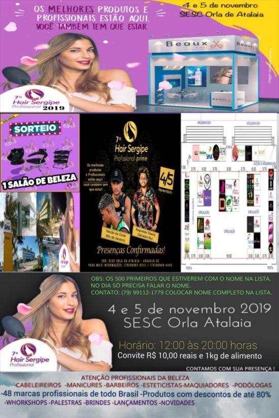 7ª edição do Hair Sergipe acontece nesta segunda e terça em Aracaju