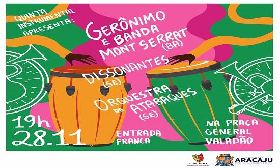 Gerônimo e Banda Mont Serrar se apresentam no Quinta Instrumental
