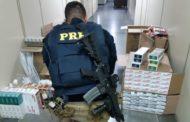 Cigarros contrabandeados e mercadorias sem nota fiscal são apreendidos em Maruim